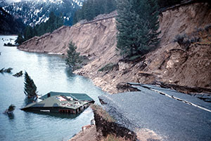 state_highway_287_slumped_into_hebgen_lake