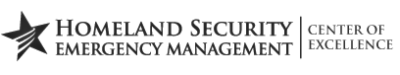 Center of Excellence for Homeland Security-Emergency Management Logo