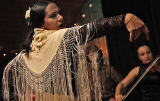 Photo of dancing Hispanic woman