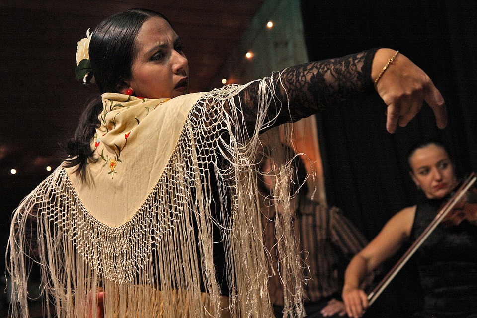 Photo of dancing Hispanic woman
