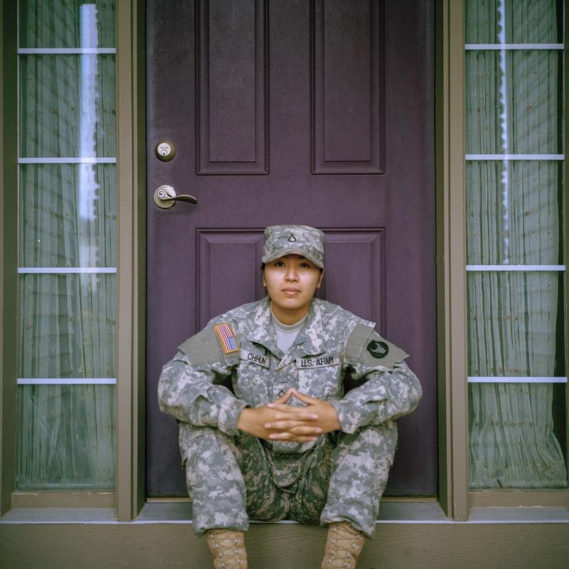photo of a military veteran