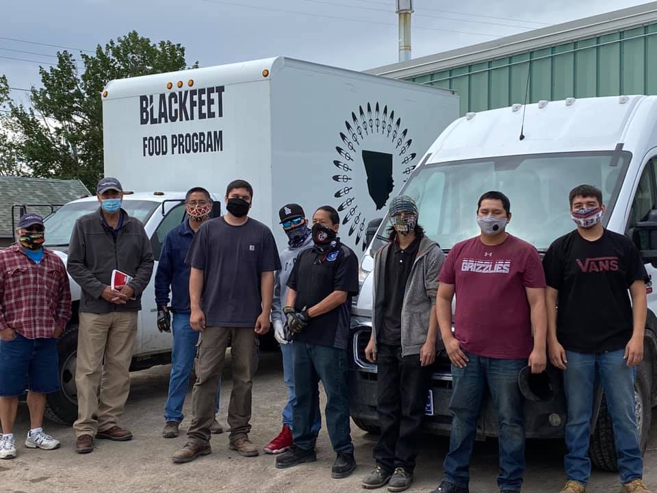 Photo of Blackfeet Indian Tribe, and Blackfeet Food Program staff