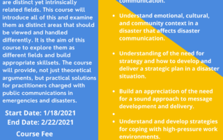 Crisis, Risk, Emergency, and Disaster (CRED) Communications